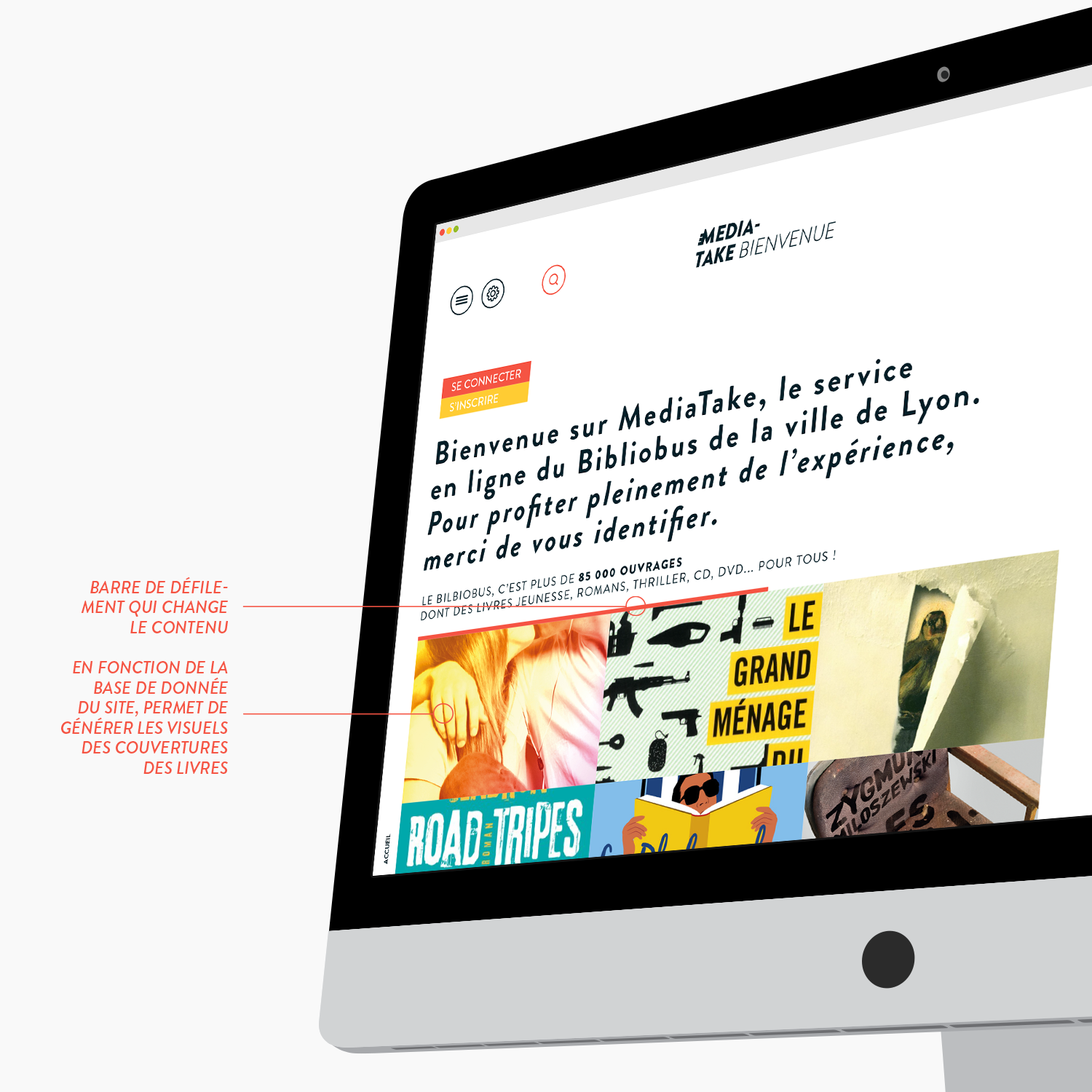MediaTake - la culture mobile - accueil par Quentin Degrange, designer graphique freelance