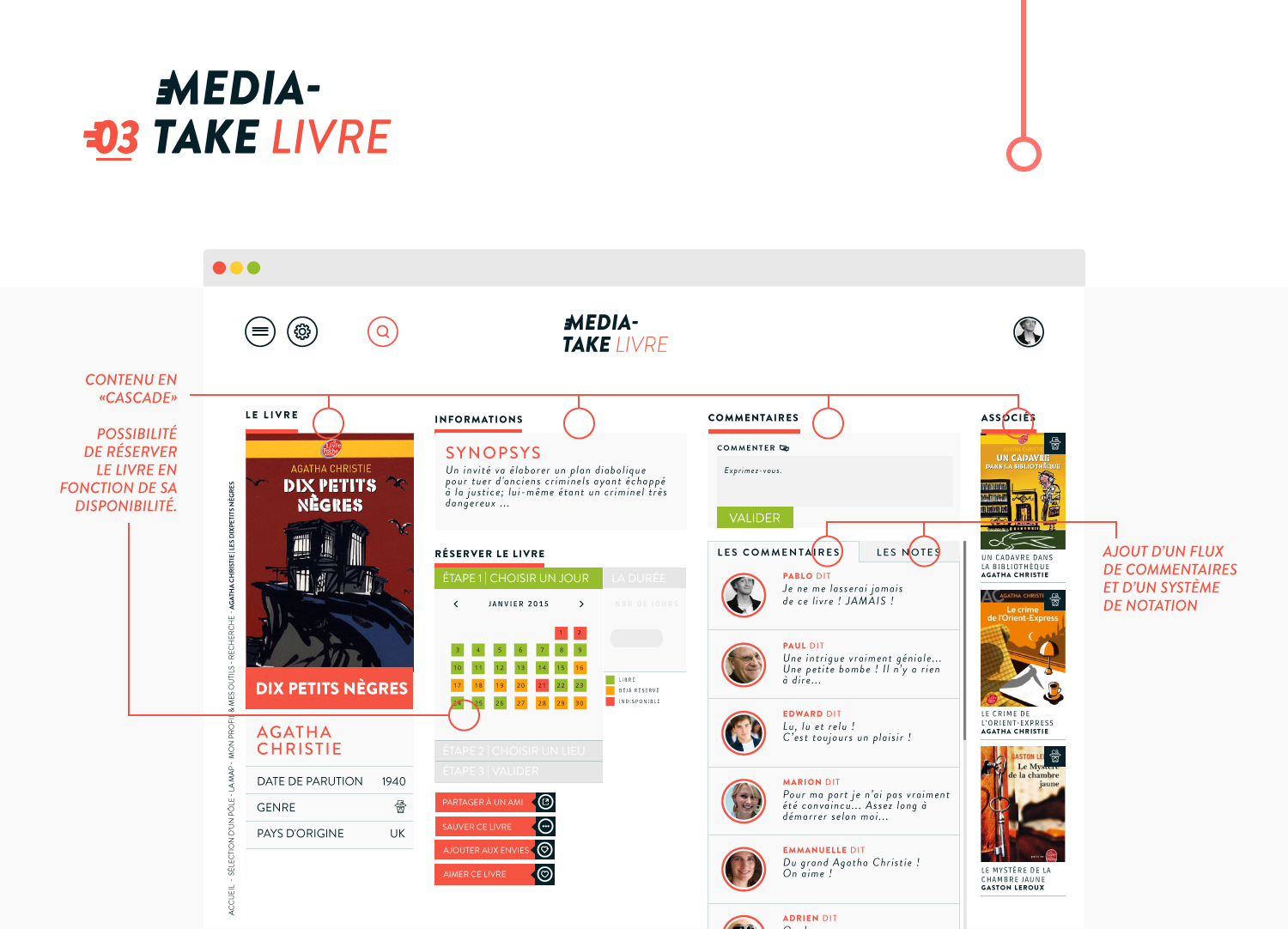 MediaTake - la culture mobile - web livre par Quentin Degrange, designer graphique freelance