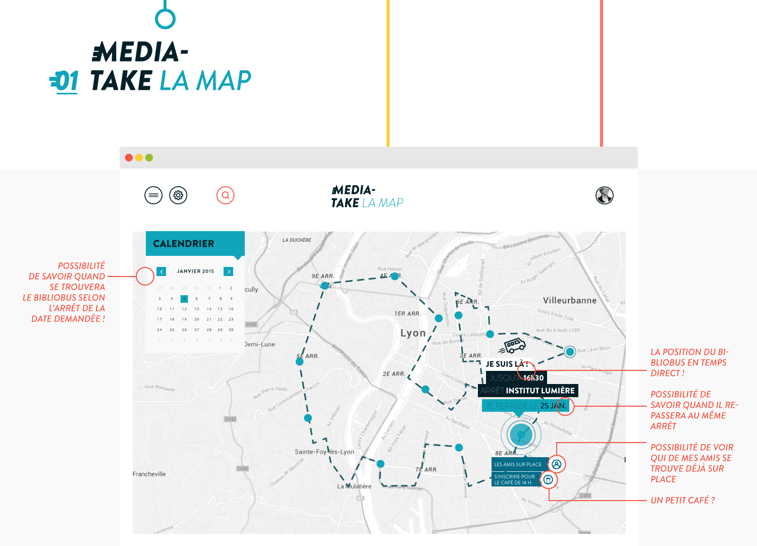 MediaTake - la culture mobile - web map par Quentin Degrange, designer graphique freelance