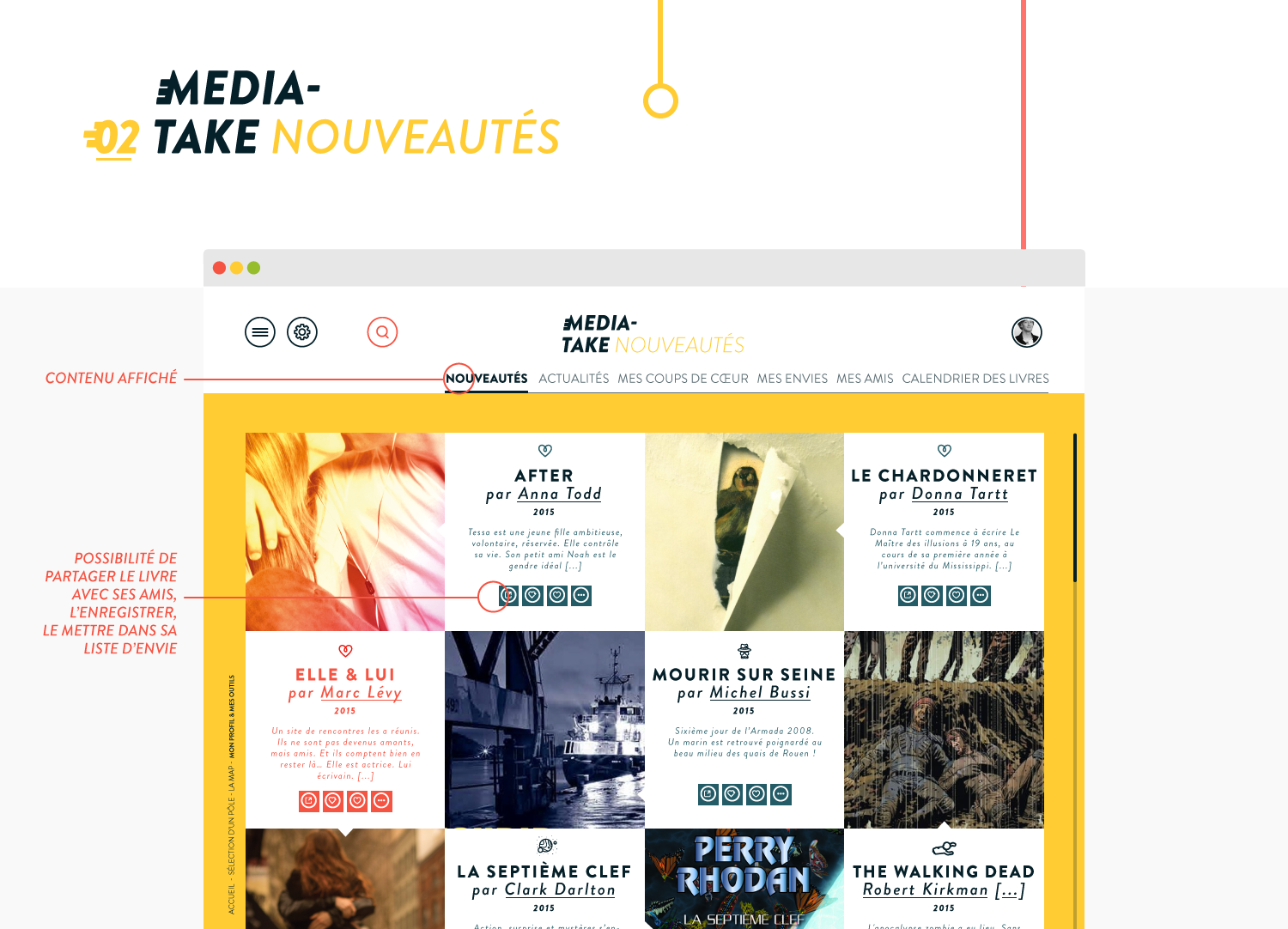 MediaTake - la culture mobile - web nouveautés par Quentin Degrange, designer graphique freelance