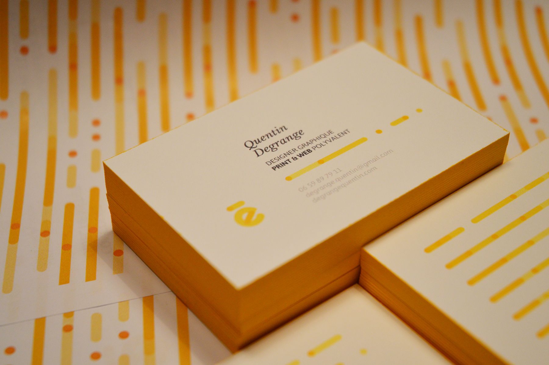 Self Branding. Quentin Degrange business cards 7