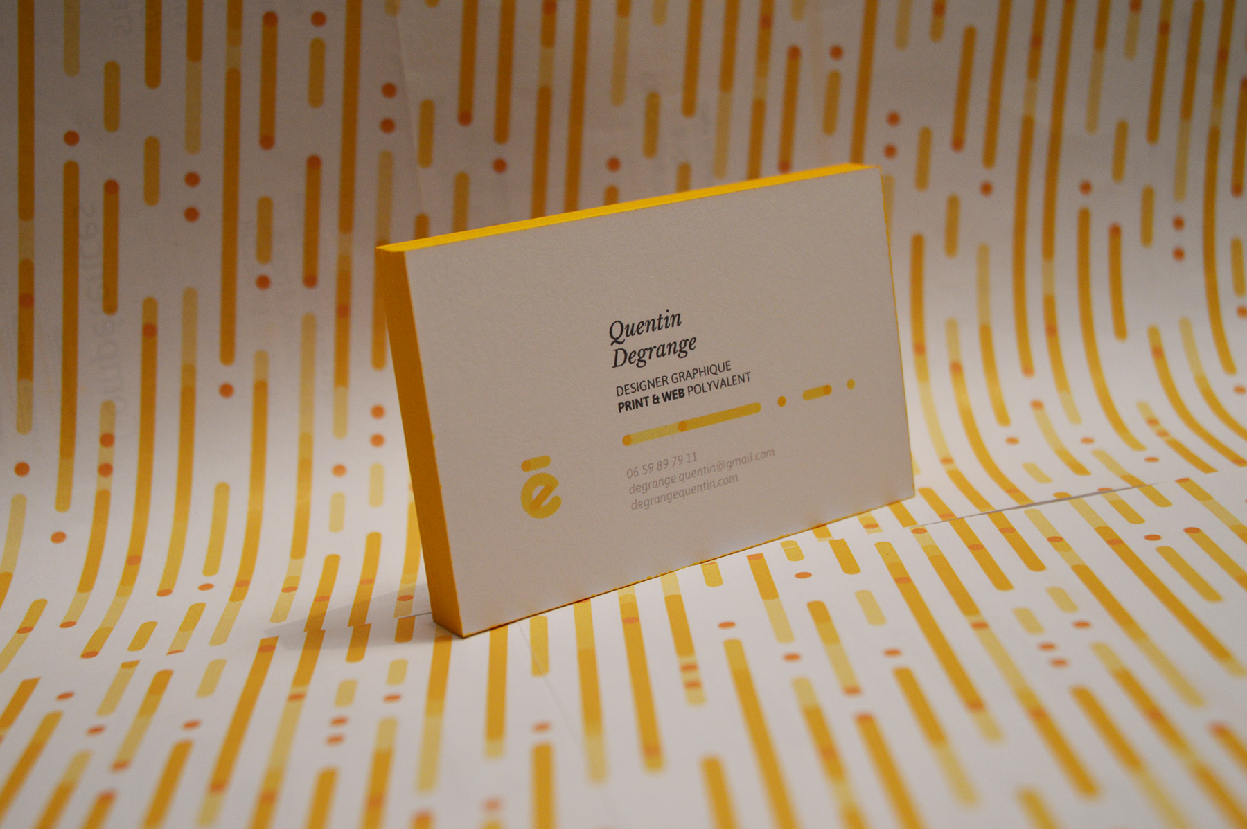 Self Branding. Quentin Degrange business cards 4