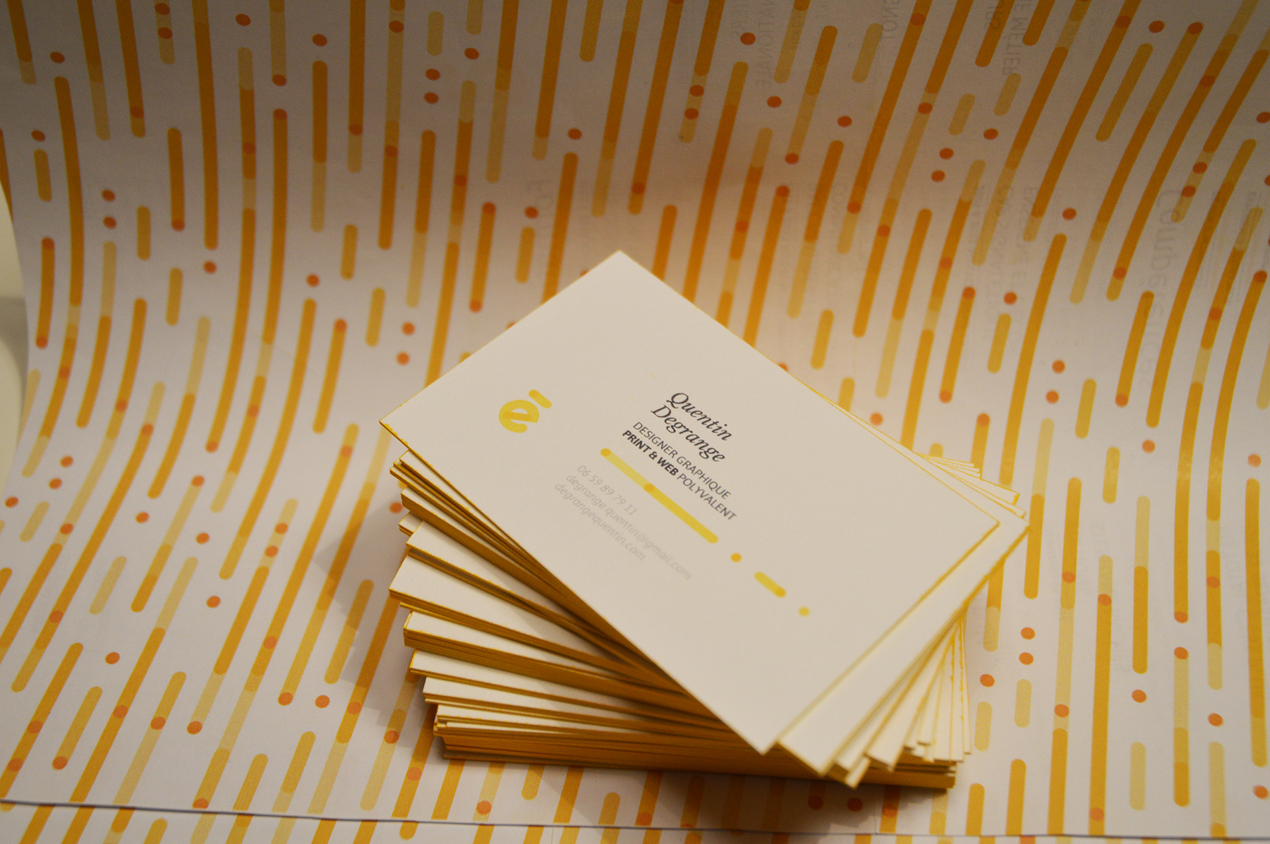 Self Branding. Quentin Degrange business cards 1
