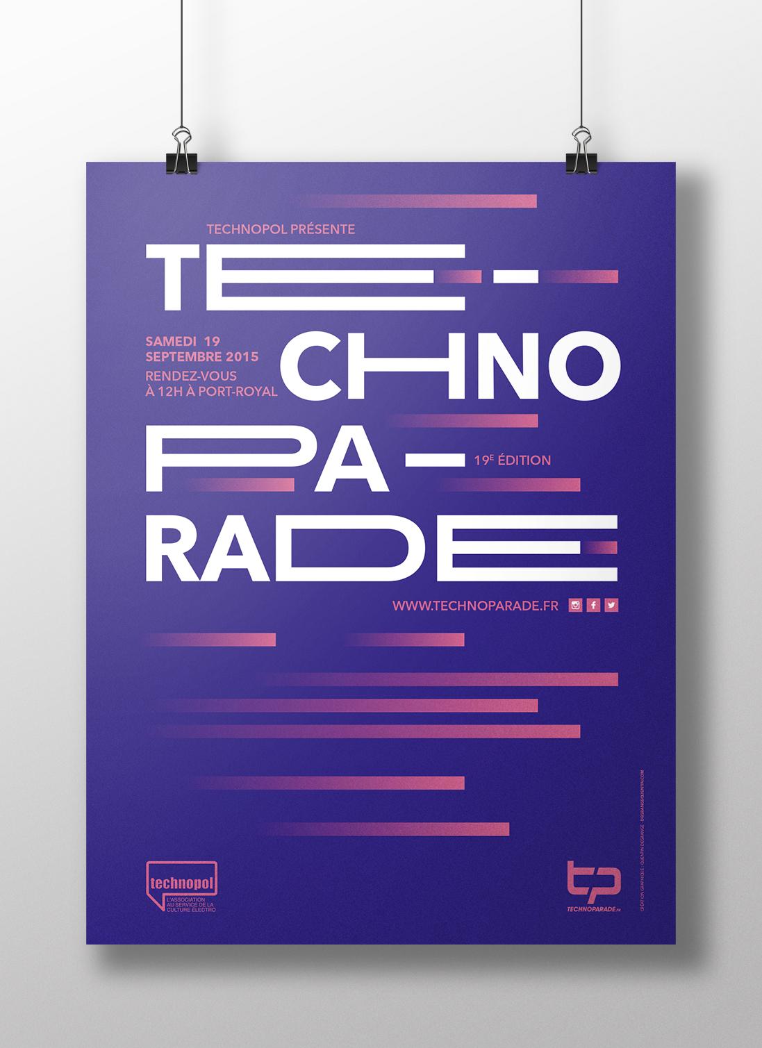 Techno Parade 2015 - Mockup affiche
