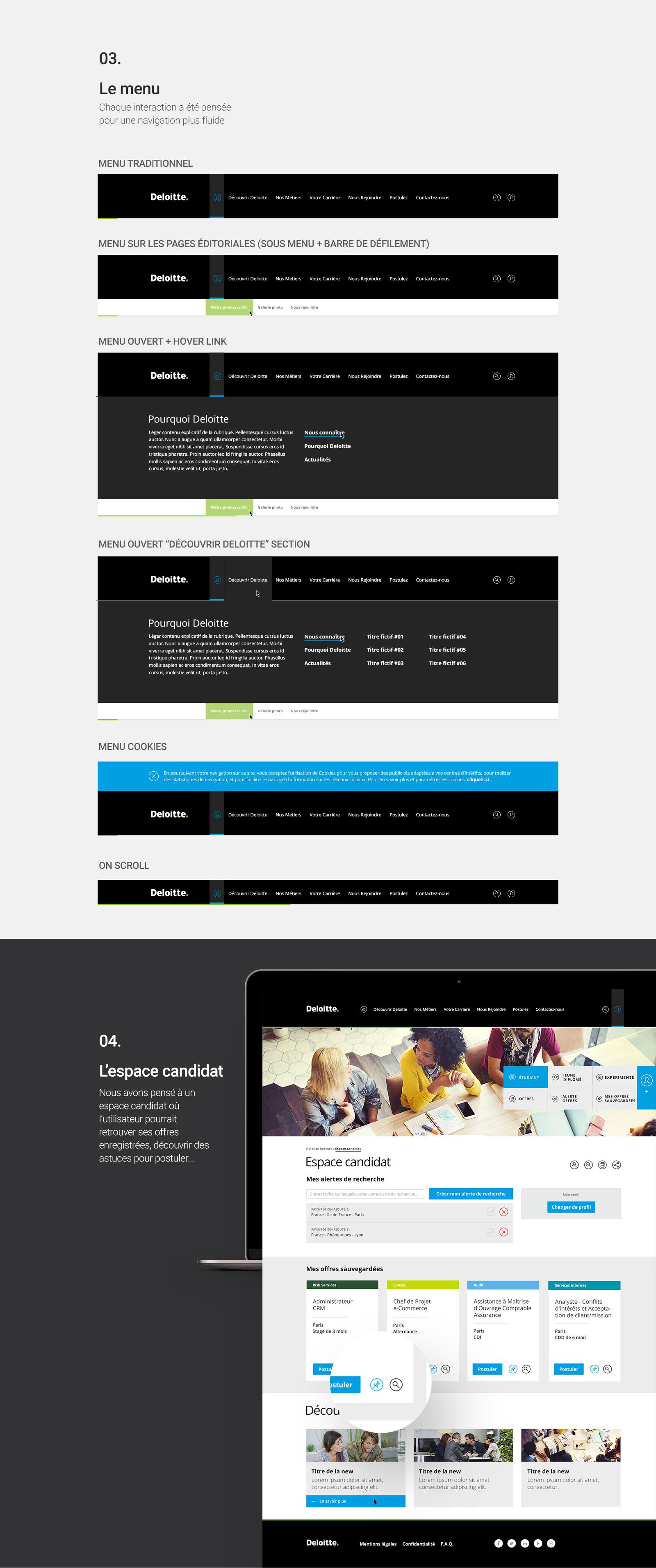 Nouveau site Deloitterecrute.fr par Quentin Degrange, Graphiste Webdesigner Cannes Nice Marseille Monaco