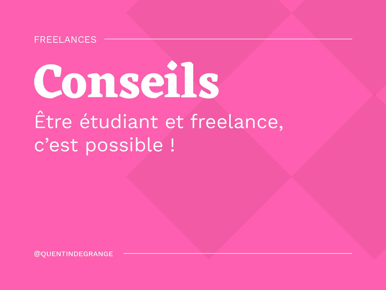 Être étudiant freelance, c'est possible !