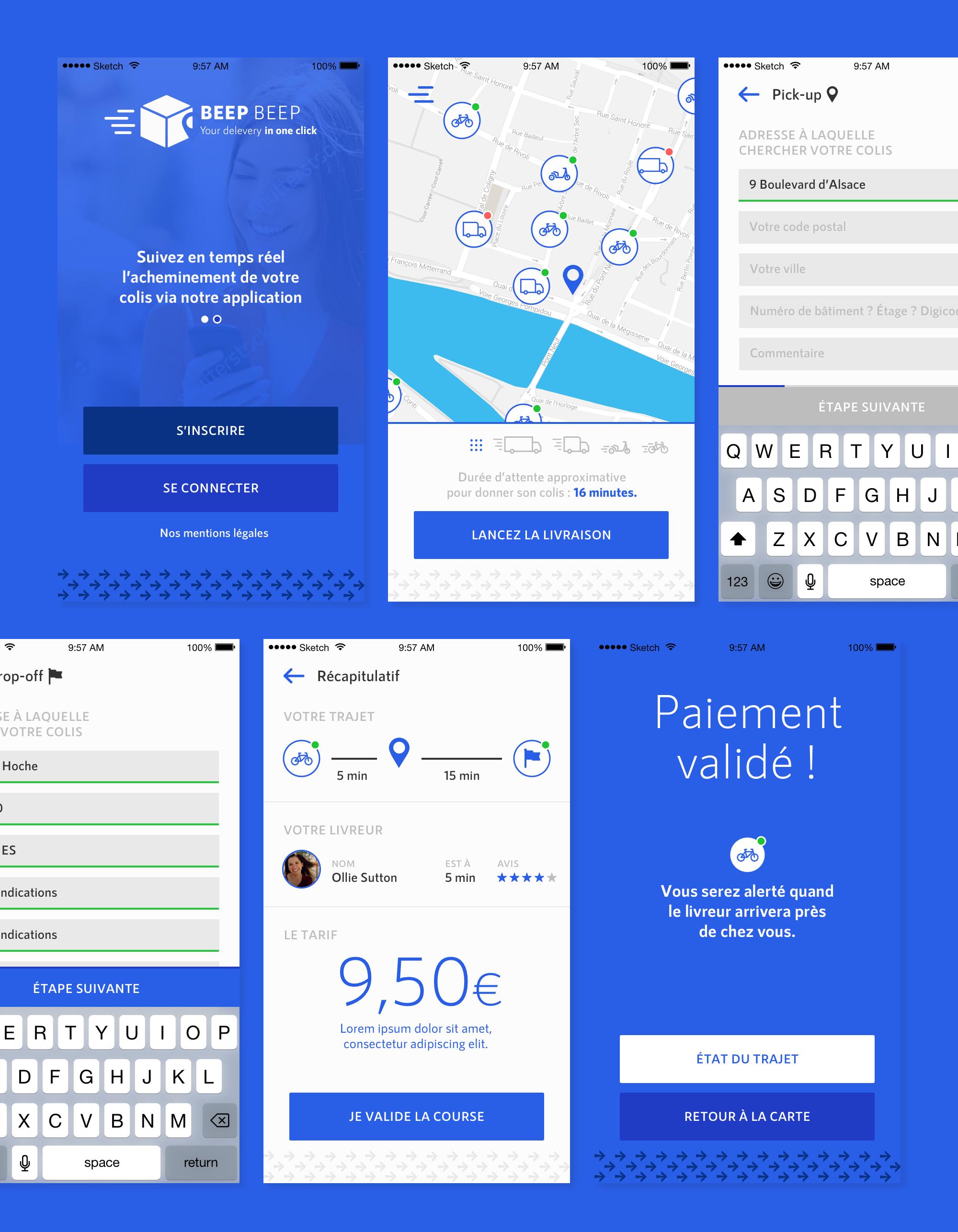 Projet Beep Beep, Quentin Degrange, webdesigner UI/UX Cannes, Nice, Monaco