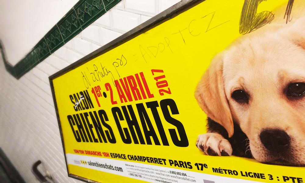 L'appropriation des publicités dans le métro parisien